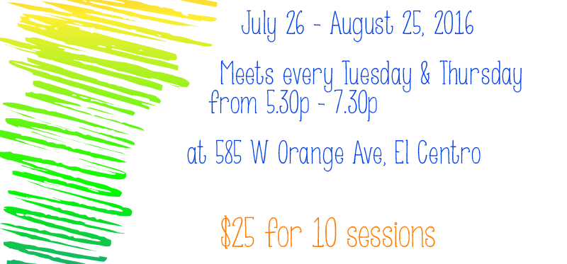 Meets every Tuesday & Thursday from July 26 - Aug 25, 5:30 - 7:30pm. $25
